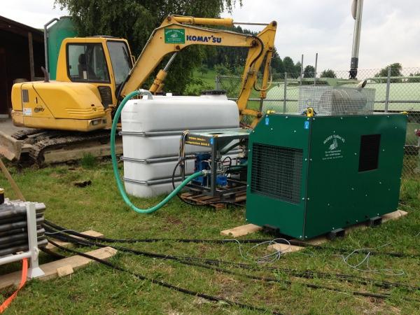 Mischstation Spülungstank mixing pumping station © TERRA AG, Reiden, Switzerland