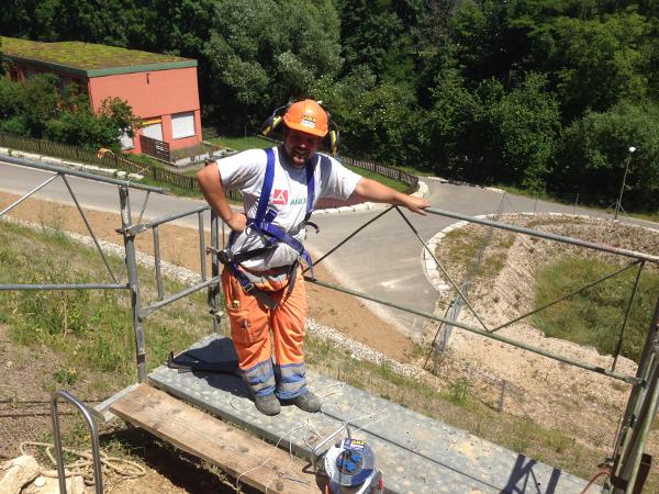 Arbeitssicherheit beim Bohren, safety working during bore © TERRA AG, Reiden, Switzerland